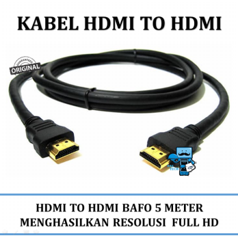 Promo Kabel HDMI to HDMI BAFO 5 Meter High Quality Original