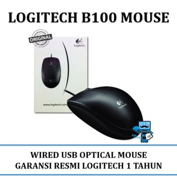 Promo MOUSE  TRACKBALL Logitech B 100 Optical USB - 910-001439 - Original