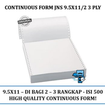 Promo Continuous Form JNS 9.5x11\2 3 PLY NCR W
