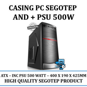 Promo Casing PC CPU SEGOTEP AND + PSU 500W