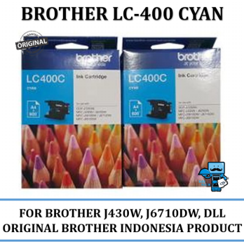Promo Tinta Brother LC-400 Ink Tinta Original Brother Cyan