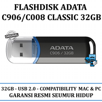 Promo Flasdisks ADATA C906\C008 classic 32GB - Original