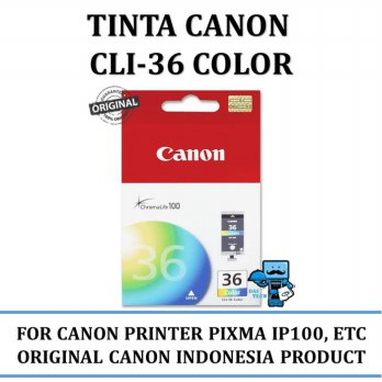 Promo Tinta Canon CLI-36 Color Ink Original