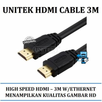 Promo Kabel Unitek HIGH SPEED HDMI CABLE 3M W\ETHERNET - YC139 - Original