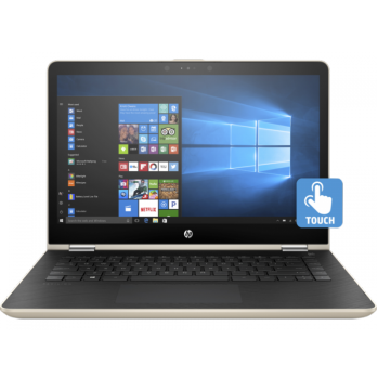 Promo Laptop \ Notebook HP Pavilion x360 14-ba091TX Gold 4GB DDR4-WIN10Home