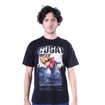Gshop GGT 0625 Kaos Oblong Gugat Edition Pria - Hitam
