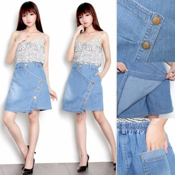 SB Collection Celana Pendek Emma Short Pants Jumbo Jeans Rok Wanita