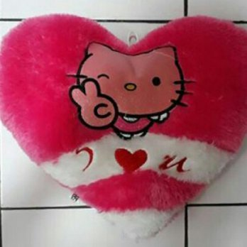 Boneka i love you hati pink