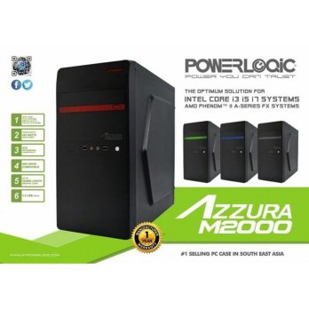 Casing Powerlogic Azzura M2000 + Psu 450W