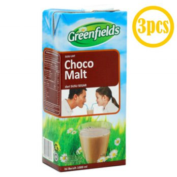 GREENFIELDS UHT Chocomalt 1L [3pcs]