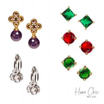 HanaChic Earring Korean Jewelry / Koleksi Anting Korea | Material New Brass & Gold plated