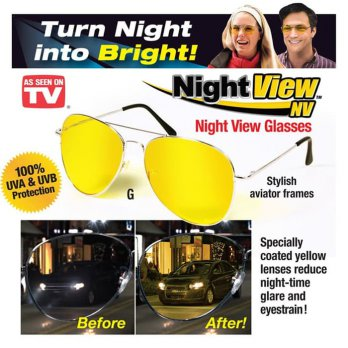 Night View NV Glasses - Kacamata Anti Silau Siang Malam As Seen On TV