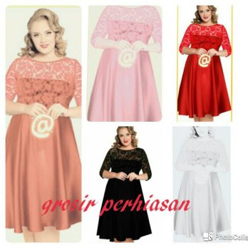 dress jumbo / bigsize / big size / XL / kombi brokat / BAGUS