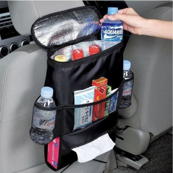 Car Cooler Bag Seat Organizer Multi Pocket - Tas Penyimpanan Mobil