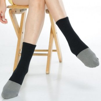 [KEROPPA] Can Nuopa Health Bamboo Charcoal Sports Socks X2 Dual C90013- Black With Gray