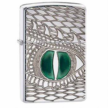 Zippo Dragon Eye Deep Carved Emerald 28807