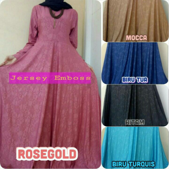 GAMIS PESTA JERSEY EMBOS DRESS