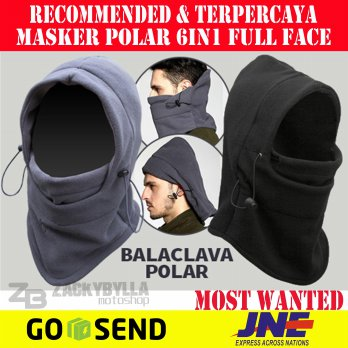 Buff | Masker | Balaclava | Kupluk | Topi Helm Polar 6in1 Full Face Multifungsi
