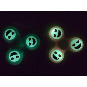 spinner glow in the dark - smile face