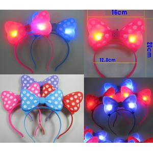 Bando Minnie Mouse LED Nyala Aksesoris Pesta Kostum Show Party Warna R