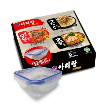 Mie Korea Arirang Promo Bonus Glass Box ( Arirang Korean Noodle )