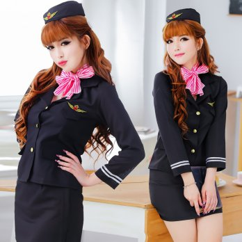 BAJU FASHION COSTUME WANITA COSPLAY COSTUME PRAMUGARI 01 KOSTUM PILOT IMPORT