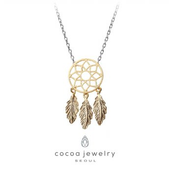 Cocoa Jewelry Korean Necklace Dream Catcher Gold