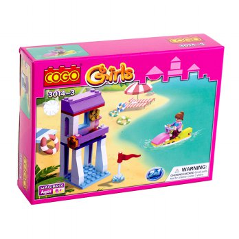 Momo Cogo Girls 3014-4 Ages 6+ - Mainan Balok