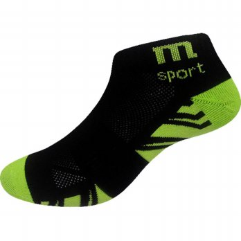 Marel Socks Ankle Sport Sock MA1P-16-SPO003 Black / Green-Kaos Kaki