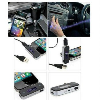 Car MP3 Player FM Wireless Transmitter For IPhone Samsung