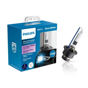 Philips Ultinon HID D2R 85V 35W 6000K Putih Lampu Juke Alphard Noah All New Civic Stream Camry 2007