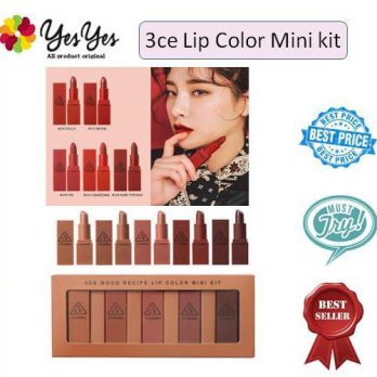 3ce lipstick Mood Reciepe Mini Set Kit - isi 5warna
