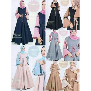 Gamis Busui / Dress menyusui / Baju hijab murah : New Marbella Dress