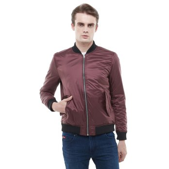 Bomber Jacket Salt n Pepper 004 - Maroon