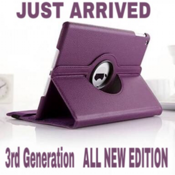 iPad AIR  360 Rotating Leather Smart Case  PURPLE