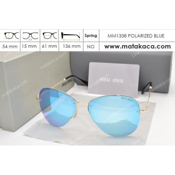 Kacamata Sunglass Miu Miu 1338 Polarized Blue