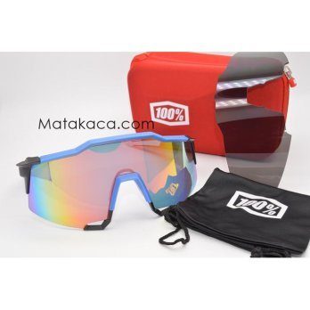 Kacamata Sunglass Outdoor 100% biru fire