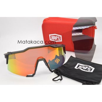 Kacamata Sunglass Outdoor 100% Hitam Fire