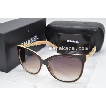 Kacamata Sunglass Chanel 5234 Coklat Cream