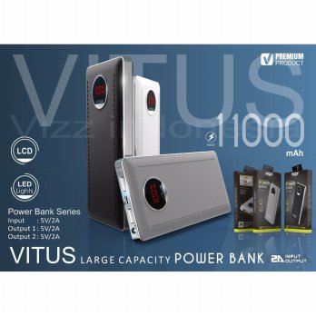 VIZZ Powerbank VITUS 11000 mAh Double Port