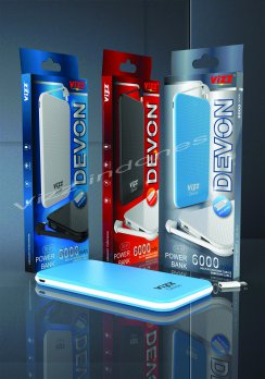 VIZZ Powerbank PB01 DEVON 6000 mAh Single Port