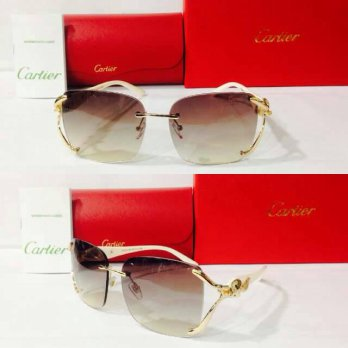 Kacamata Sunglass Cartier 8120 Cream