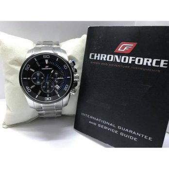 JAM TANGAN CHRONOFORCE 5227 SILVER BLACK LIST BLUE ORIGINAL