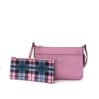 Coach East/West Crossbody With Pop-Up Pouch - Dusty Pink