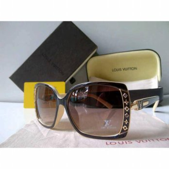 Kacamata Sunglasses LV (louis vuitton) Jupe Coklat Cream