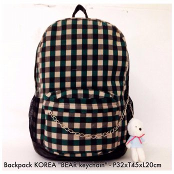 Tas Backpack Korea Bear Keychain