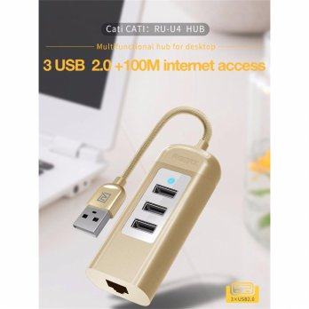 Remax 3 USB HUB with LAN Port RU-U4 (2.0)