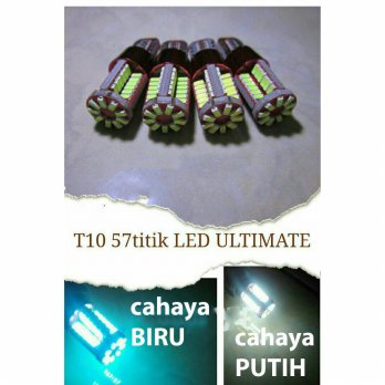 Cahaya BLUE ICE Lampu T10 Led 57titik CANBUS Super Bright Senja Mundur