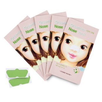 Etude House Green Tea Nose Pack AD 5pcs
