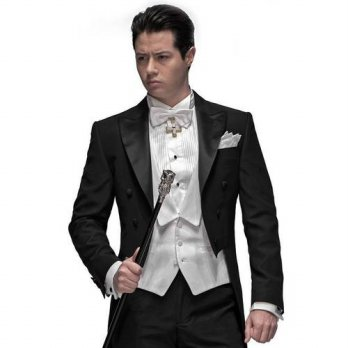 [globalbuy] New Style Black Tailcoat Groom Tuxedos Groomsmen Mens Wedding Prom Suits Custo/4219899